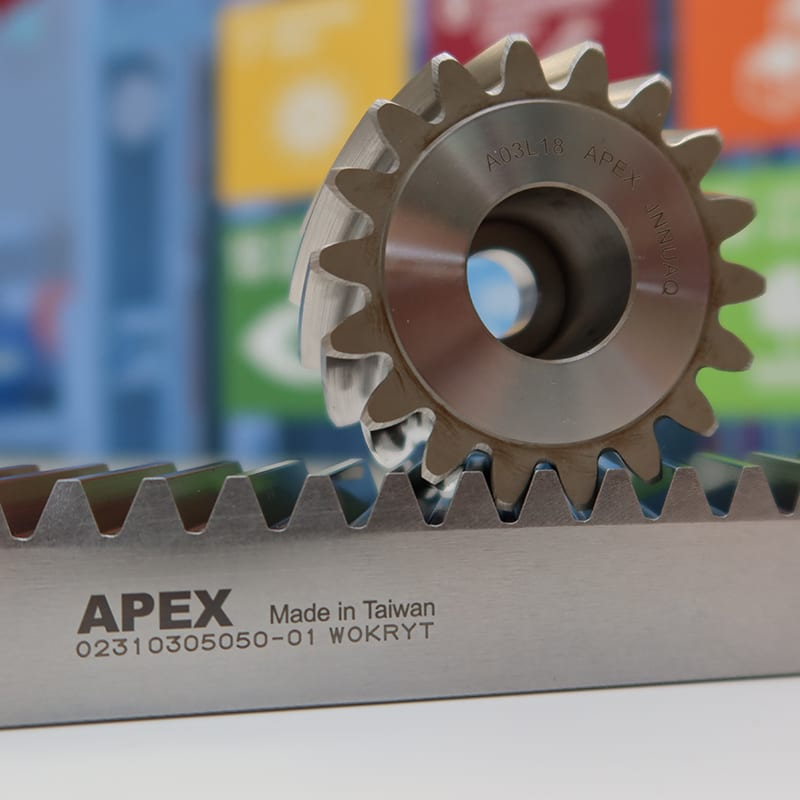 APEX tandhjul og tandstang